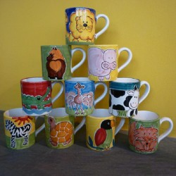 mug decoro animali